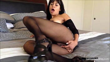 Spicy Latina Gabby Quinteros Finger Fucks Her Mexican Milf Hole!