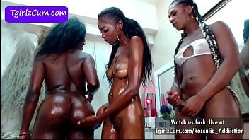 Group Sex Black Shemales live at TgirlzCum.com