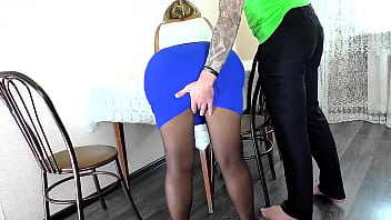 Mom showed her son her big ass and gave it for anal sex
