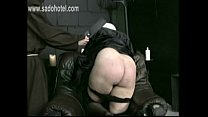 Naughty screaming nun got spanked very hard on her nice big butt by old pries