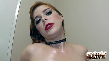 Ginger Penny Pax Plays With Her Oily Tits And Mouth Fucks A Thick Cock