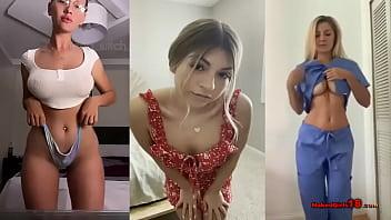 19 Sexy Teen Girl's Amateur Striptease Show