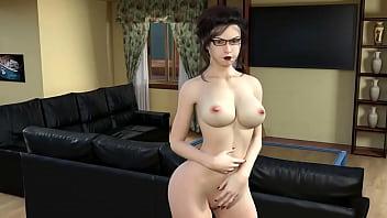 HARDCORE BIG TITS YOUNG GIRL SECRETARY FUCKED BIG COCK - BLOWJOB CUM IN MOUTH SPERM - BELLA ANAL TEEN