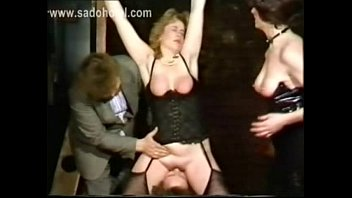 German master slave to lick pussy of horny other slave while she got hit with a whip