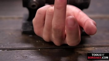Busty bdsm sub whipped and fingered before squirting