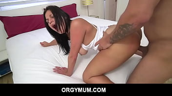 Seductive MILF Mona Azar ask help from horny stepson Tony Profane to fuck her hungry MILF pussy