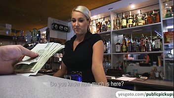 Super gorgeous Lenka gets fucked in pub and receives sticky facial 6 min