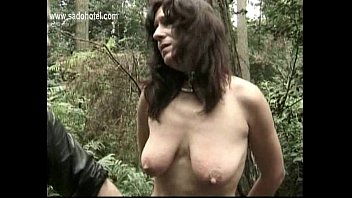 Slave jerk off while he is watching two masters play with his wifes tits and pussy