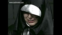 Naughty nun begs for forgiveness but is spanked on her hands and butt by priest