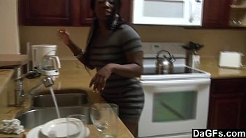 DAGFS - A Kitchen Fuck For This Big Assed Ebony Gal