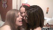 DAGFS - Halloween Party Turns In A Lesbian Orgy