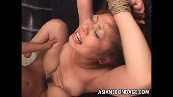 Tied up Asian babe gets fucked long and hard