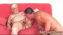 Fat blonde horny granny Lea