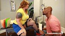 Sexy Busty Redhead Accountant Fucks Big Black Cock