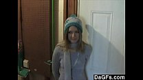 Dagfs - My Cute Neighbor Shows Me Her Slim Body And Plays With Her Pussy