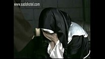 Horny Nun apologizes to priest but get hit and spanked on her hand and well formed ass