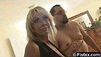 Superb Ass Fisting Lady Rammed