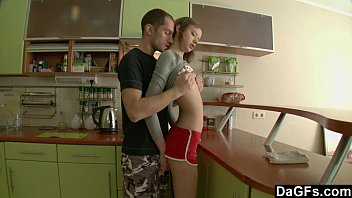 Dagfs - Petite Russian Gets Assfucked In The Kitchen