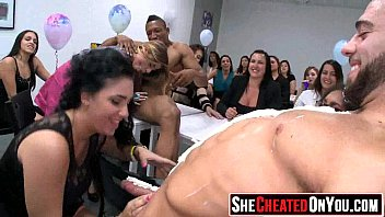 54 Desperate Strippers getting sucked and fucked at CFNM orgy 07