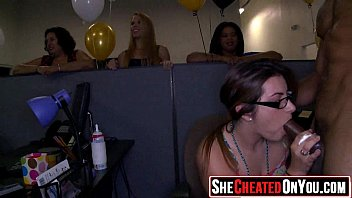 32 Desperate Strippers getting sucked and fucked at CFNM orgy 23