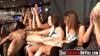 32 Slutty girls sucking cock at sex party31