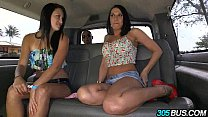 Threesome on the 305Bus with Rachel Starr and a random latina babe 2.3