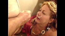 57yo Carol taking a facial
