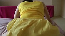 Plump wife fucks with her yellow dress on at Porn Yeah 8 min