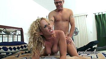 Slutty MILF Samantha gets stuffed with a stiff cock