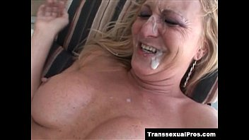 TS Olivia Love is fucked and facialized