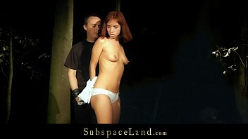Submissive slave bearing harsh punishment and humiliation