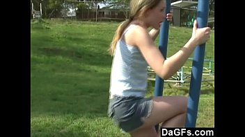Dagfs - Little Pussy Plays In The Park And Flashes Her Body