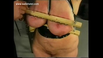 German master spankes older slave on her fat ass and plays with her large tits