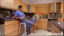 Sexy Busty Plumber Plumper Kacey Parker Drains A BBC Cock