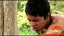 Barebacking latino twinks in the woods
