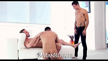 HD - ManRoyale Three guys shove hard big cock down their throats
