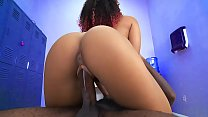 Hot black chick gets fucked by a big black cock - black porn