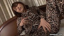 Yui Ayana has a frisky time with her wet pussy