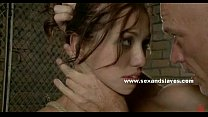 Brunette in rough extreme fuck session