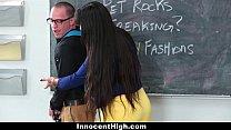InnocentHigh - Hot MILF Teacher (Mercedes Carrera) Fucks Student