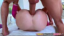 Tiny Blonde Chloe Foster Gets Huge Cock In Her Ass