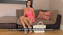 FakeAgentUK Tanned athletic goddess with beautiful tits gets creampied