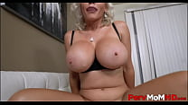 Blonde Big Tits MILF Step Mom Casca Akashova Family Sex With Step Son After Dad Leaves POV