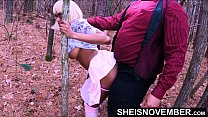 4k Msnovember Daddy Standing Doggystyle In The Wilderness & Rough Riding BigDick After Her Big EbonyBreasts Are Sucked Dry On Sheisnovember