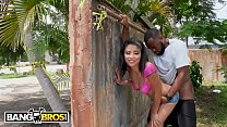 BANGBROS - Ebony Maya Bijou Gets Fucked in Public By Multiple Guys