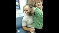 Horny Granny on the Subway - More at cuntcams.net