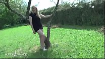 Casting couch of a small titted amateur french blonde hard banged