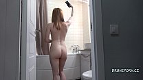 Gorgeous redhead Anabelle - Spy cam