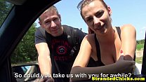 Real stranded couple fuck for voyeur driver