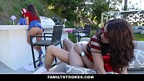 FamilyStrokes - Sexy Milf (Ariella Ferrara) Joins Step-Son & Daughter (Jennifer Jacobs) In Threesome
